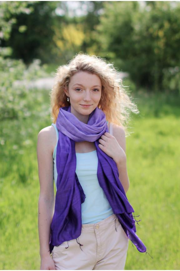 Šály zo surového hodvábu a bavlny